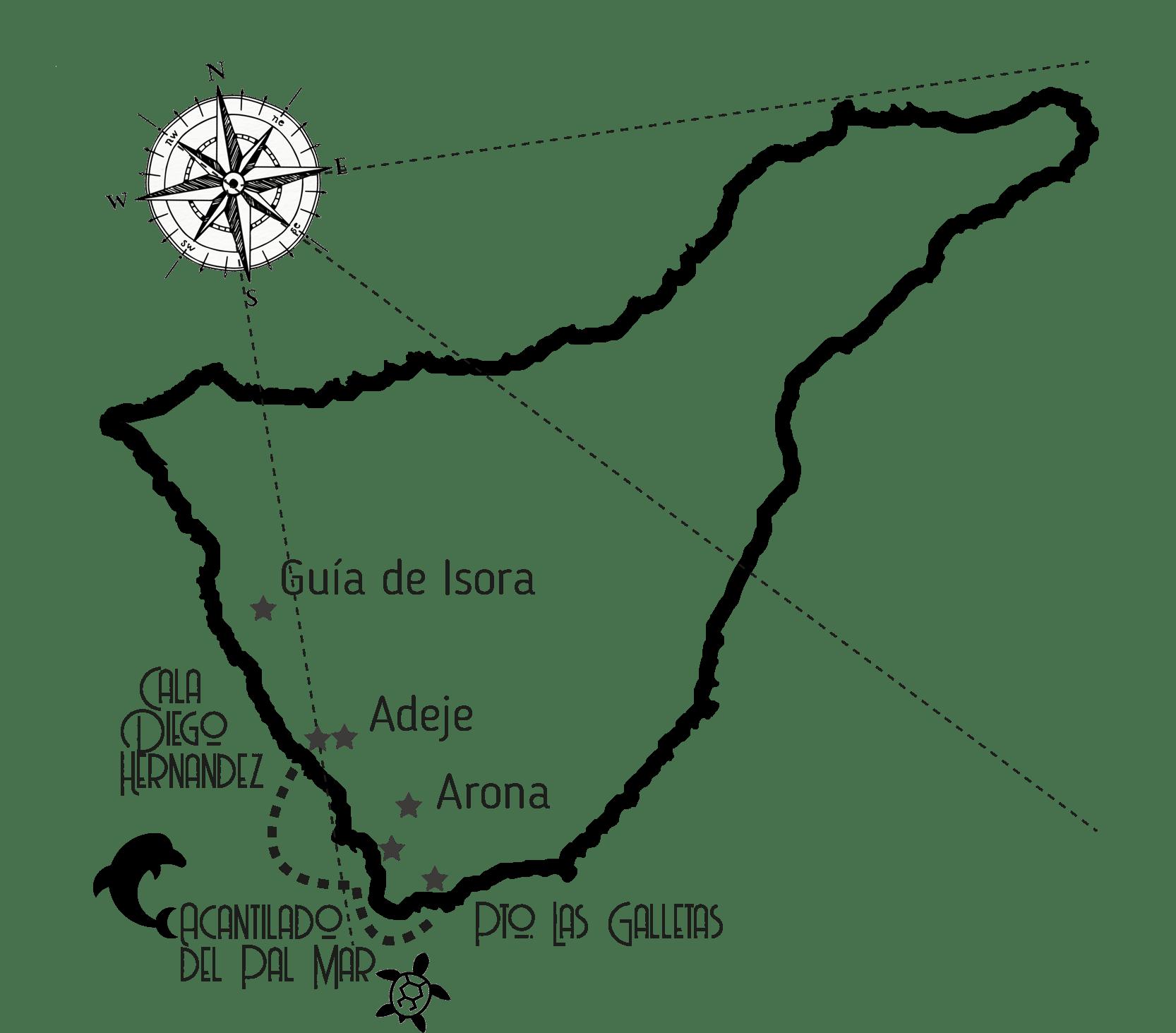Full Day Sailing Tenerife Map